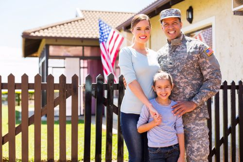 Military homeowner and family