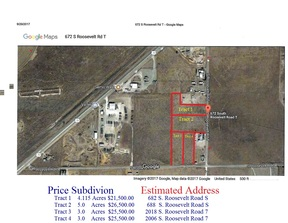 Portales NM Residential Lots and Land For Sale 0WNER FINANCING: $25,500 575-799-5682