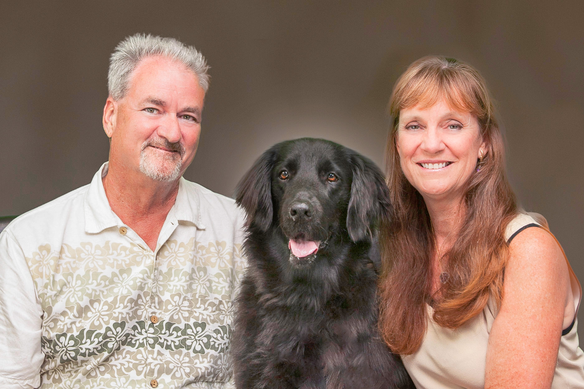 Debra & Barry Kessler and Jett the Wonder Dog