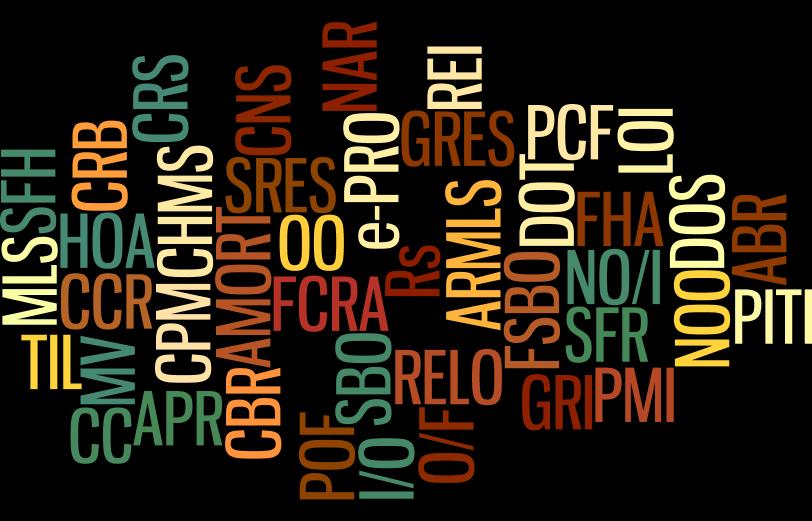 Friedman Realty Associates, real estate acronyms