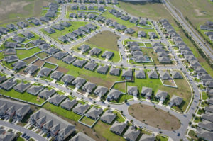 Friedman Realty Associates, aerial view of subdivision