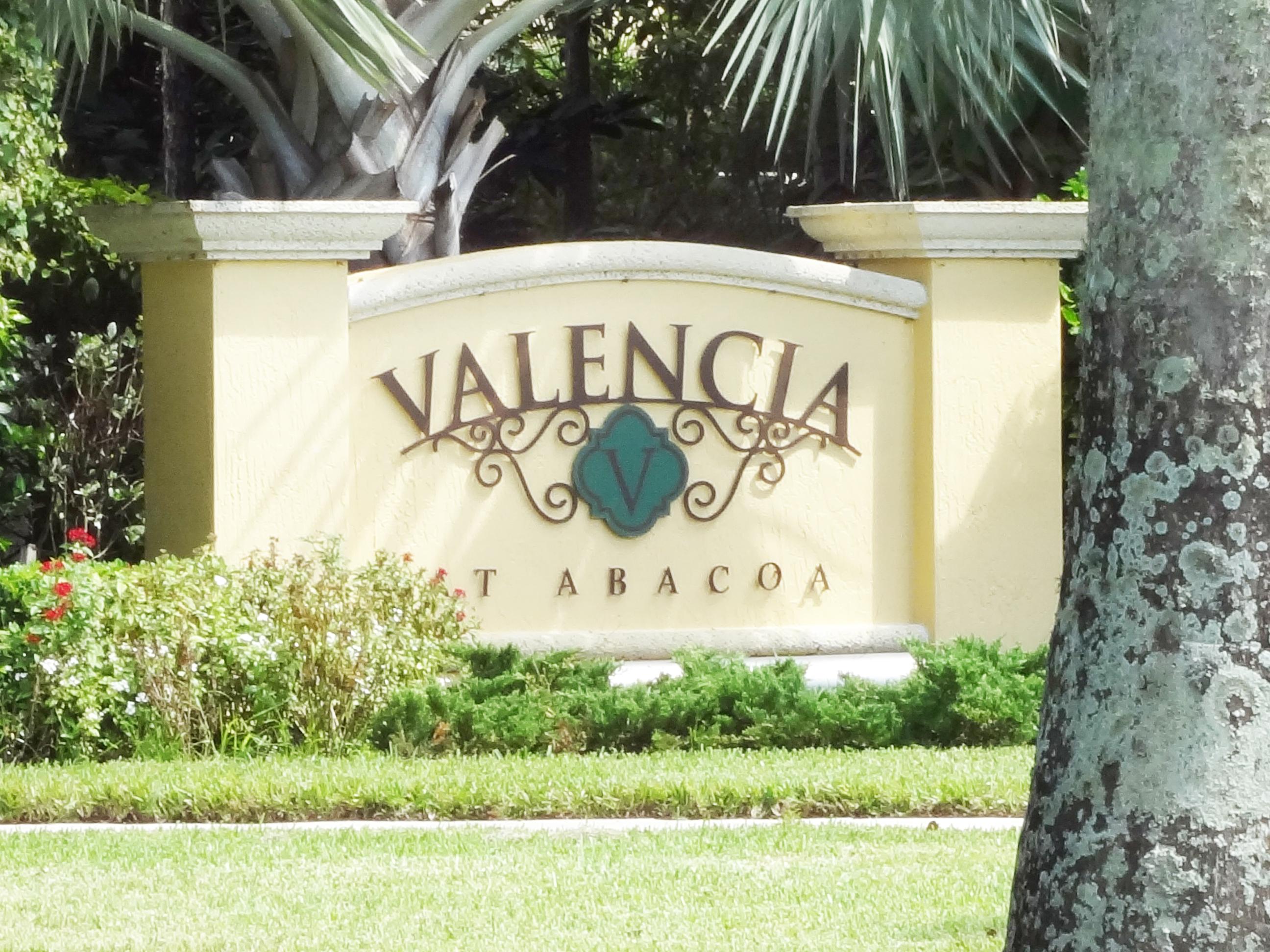 Valencia Abacoa entrance signage