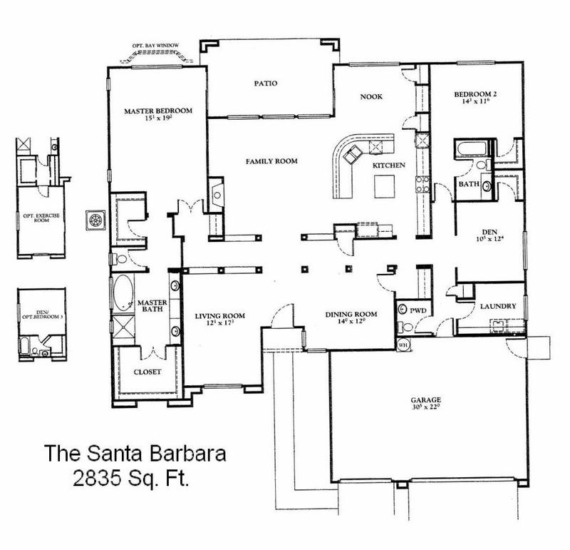 The Santa Barbara 2835 Sq Ft Pulte Sharon Worman – Pulte Homes Floor Plans