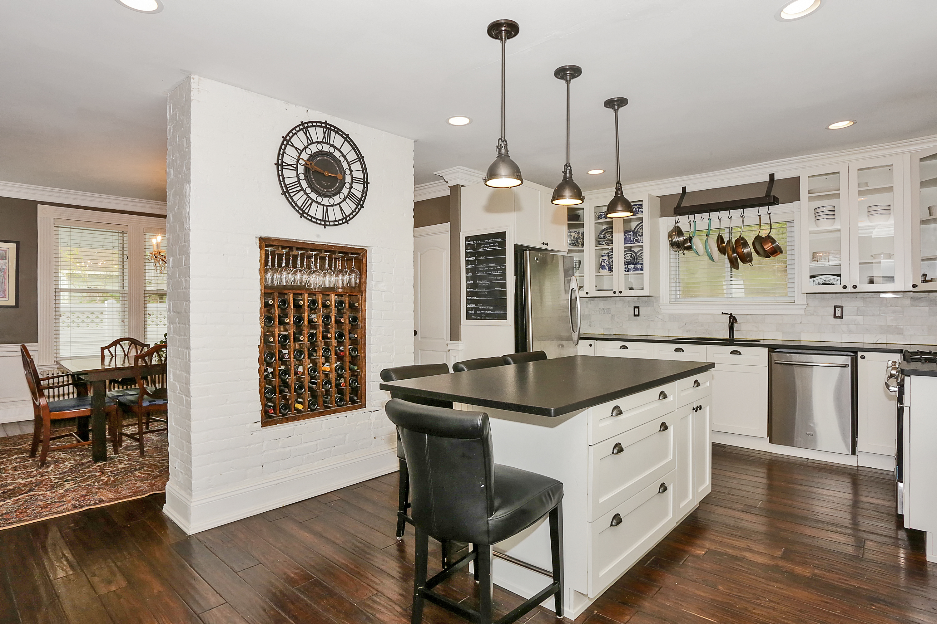 Stunning Kitchen at 221 Hudson Terrace a beautiful home for sale in Piermont by Donna Cox top Rockland County realtor