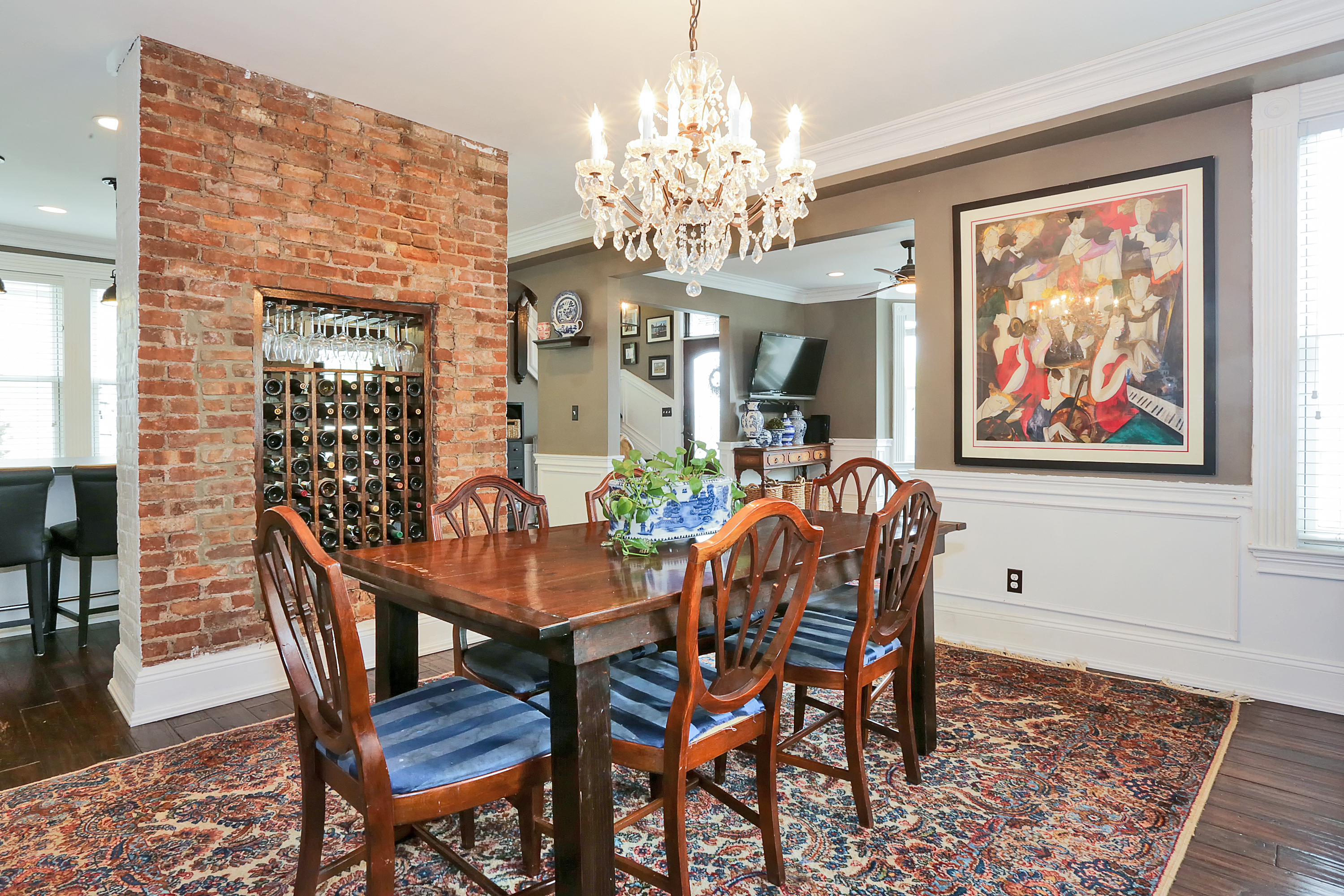 The dining room of  221 Hudson Terrace a beautiful home for sale in Piermont by Donna Cox top Rockland County realtor