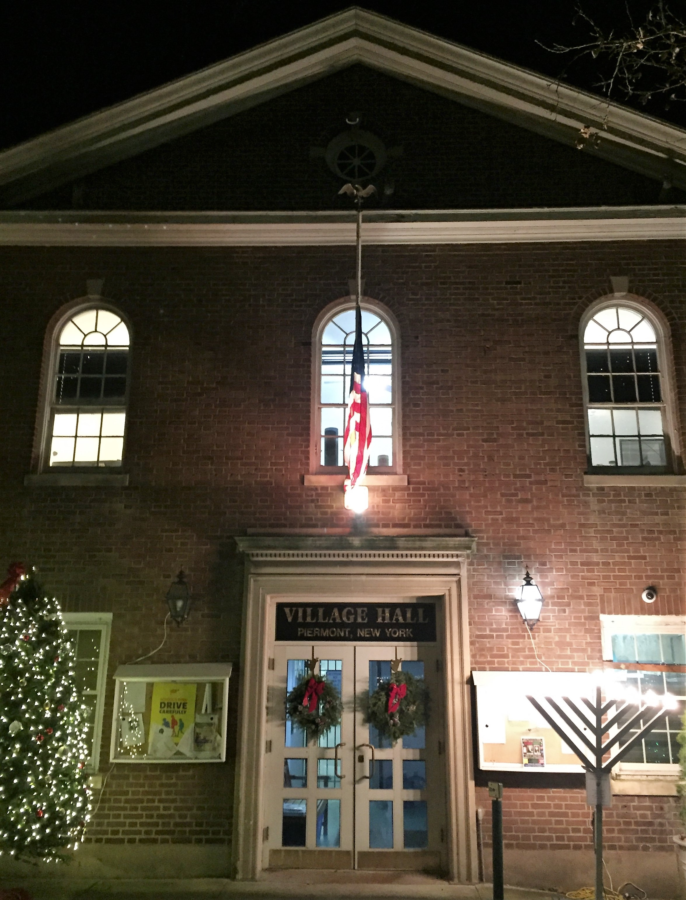 Pretty Picture of Piermont, NY 10968 Taken at Christmastime by Donna Cox Associate Broker Better Homes and Gardens Rand Real Estate Nyack