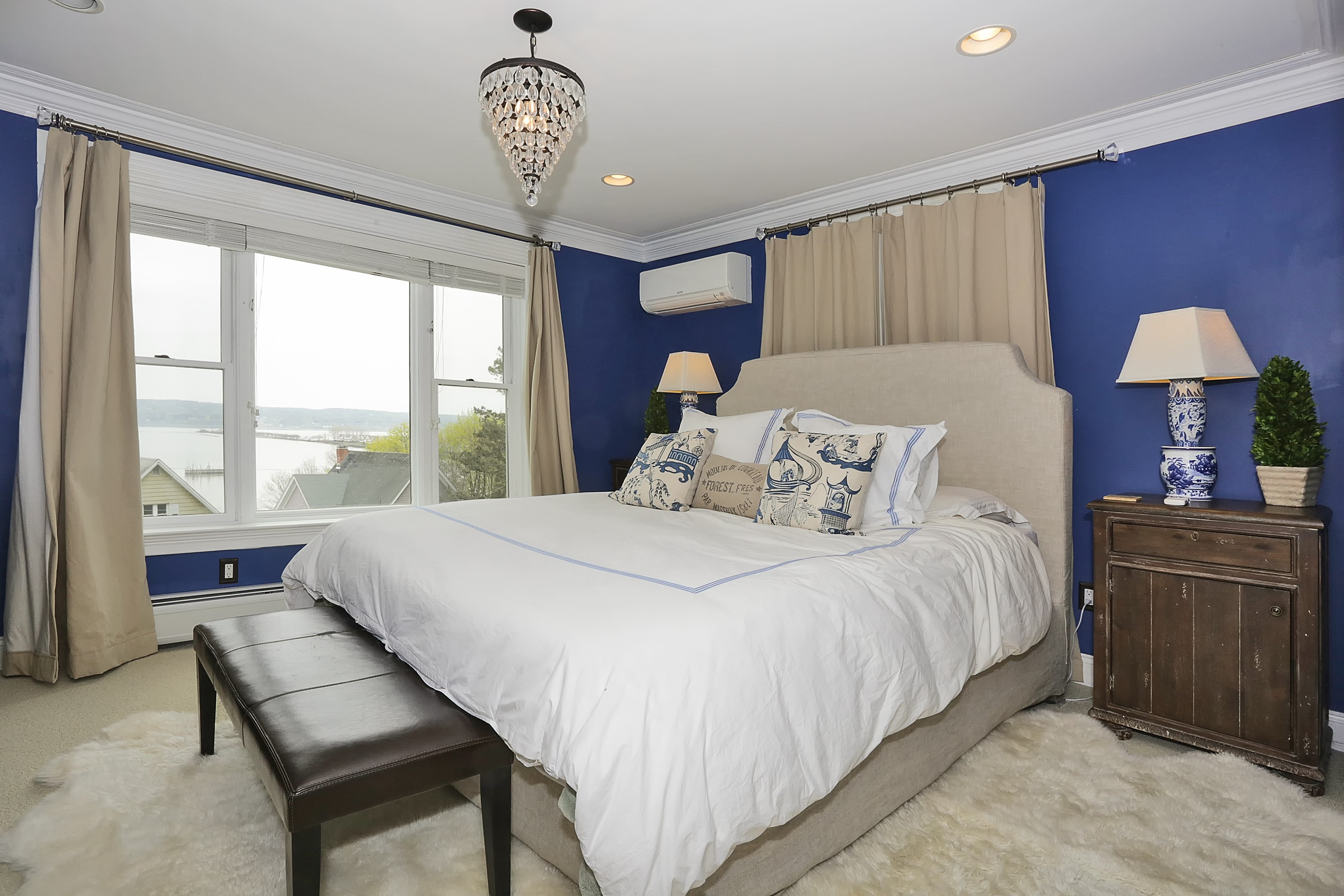 The bedroom of a beautiful home for sale in Piermont by Donna Cox top Rockland County realtor