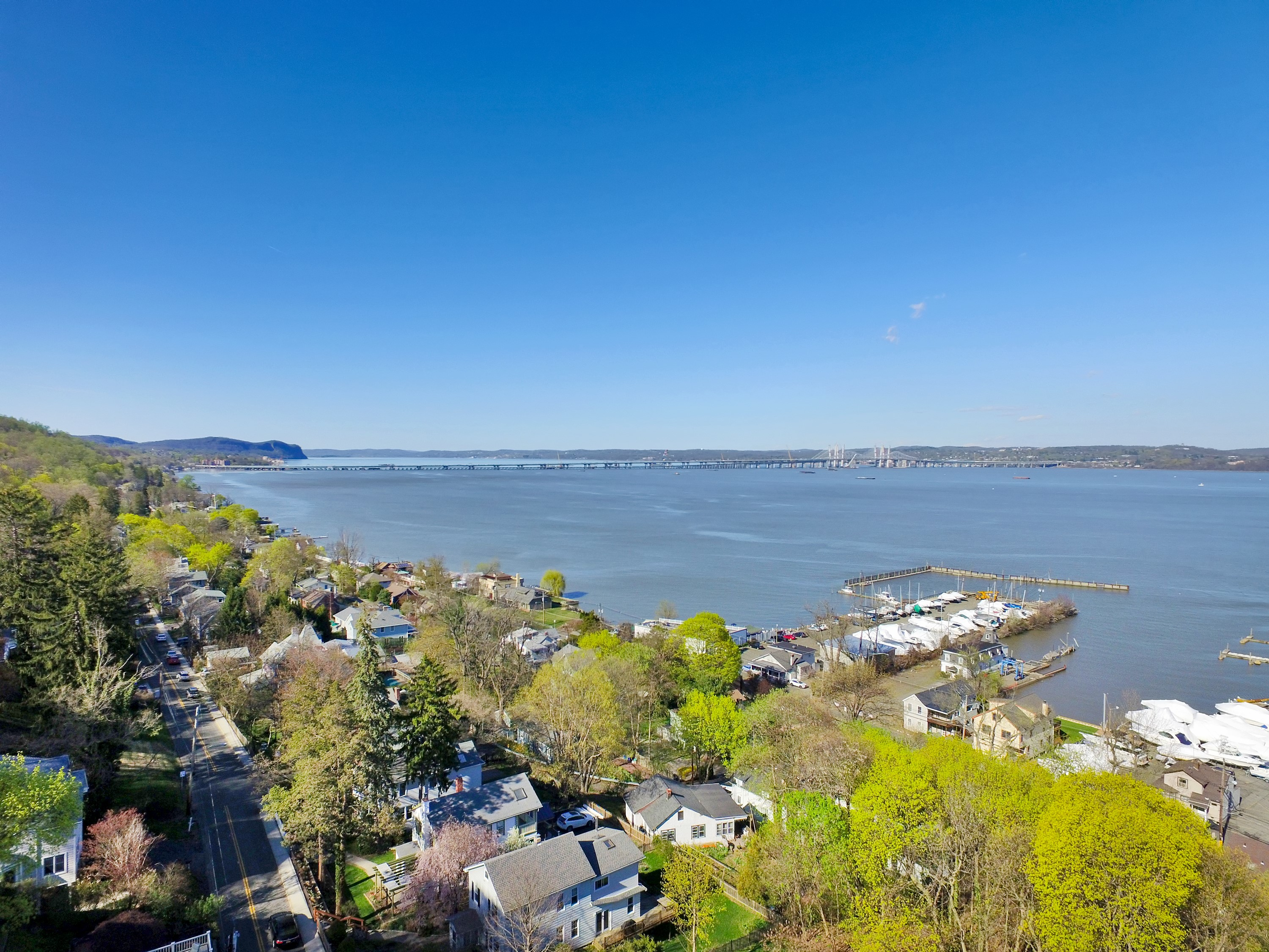 The view from 221 Hudson Terrace a beautiful home for sale in Piermont by Donna Cox top Rockland County realtor