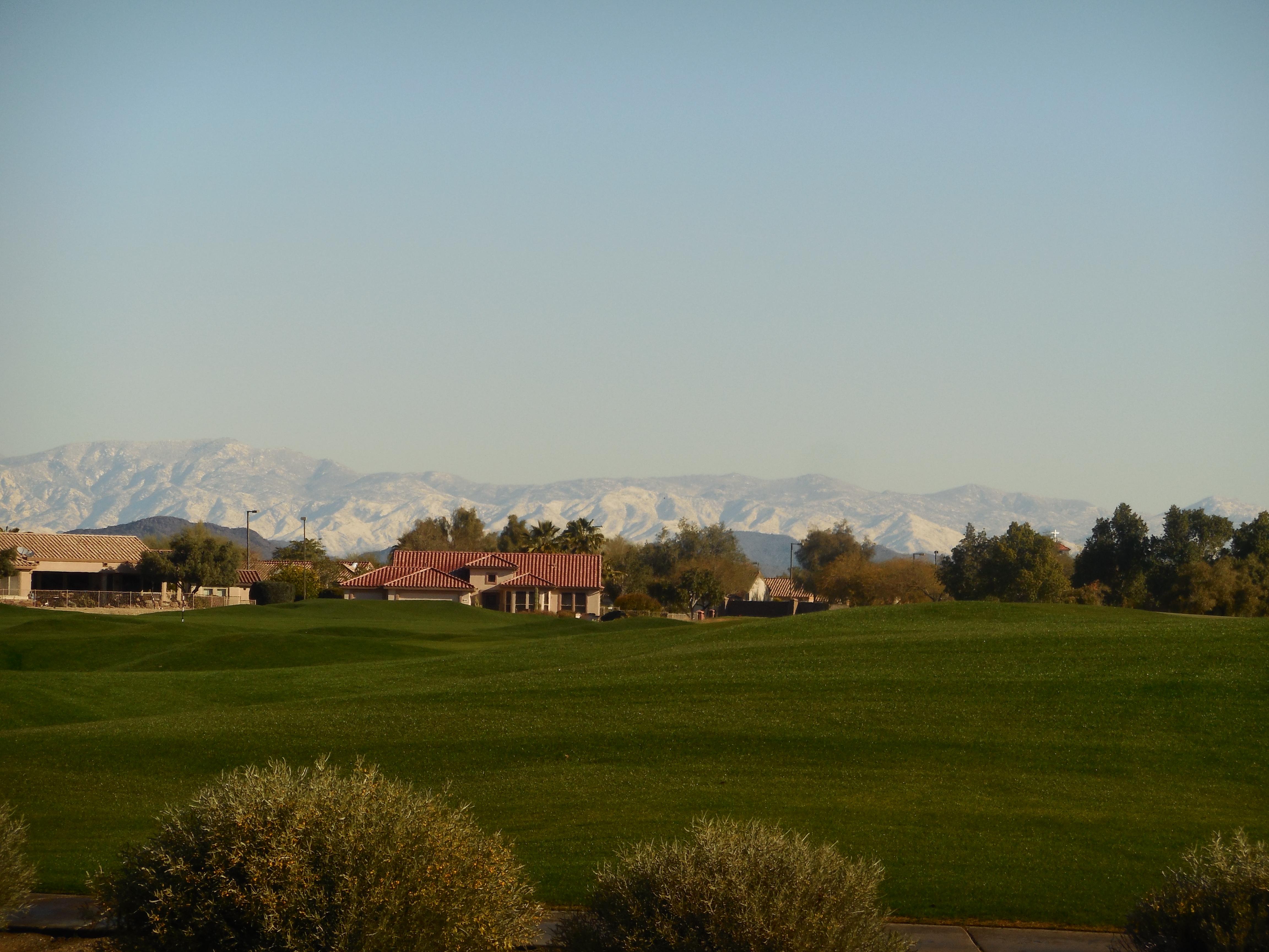 Snow in mountains N of Phoenix