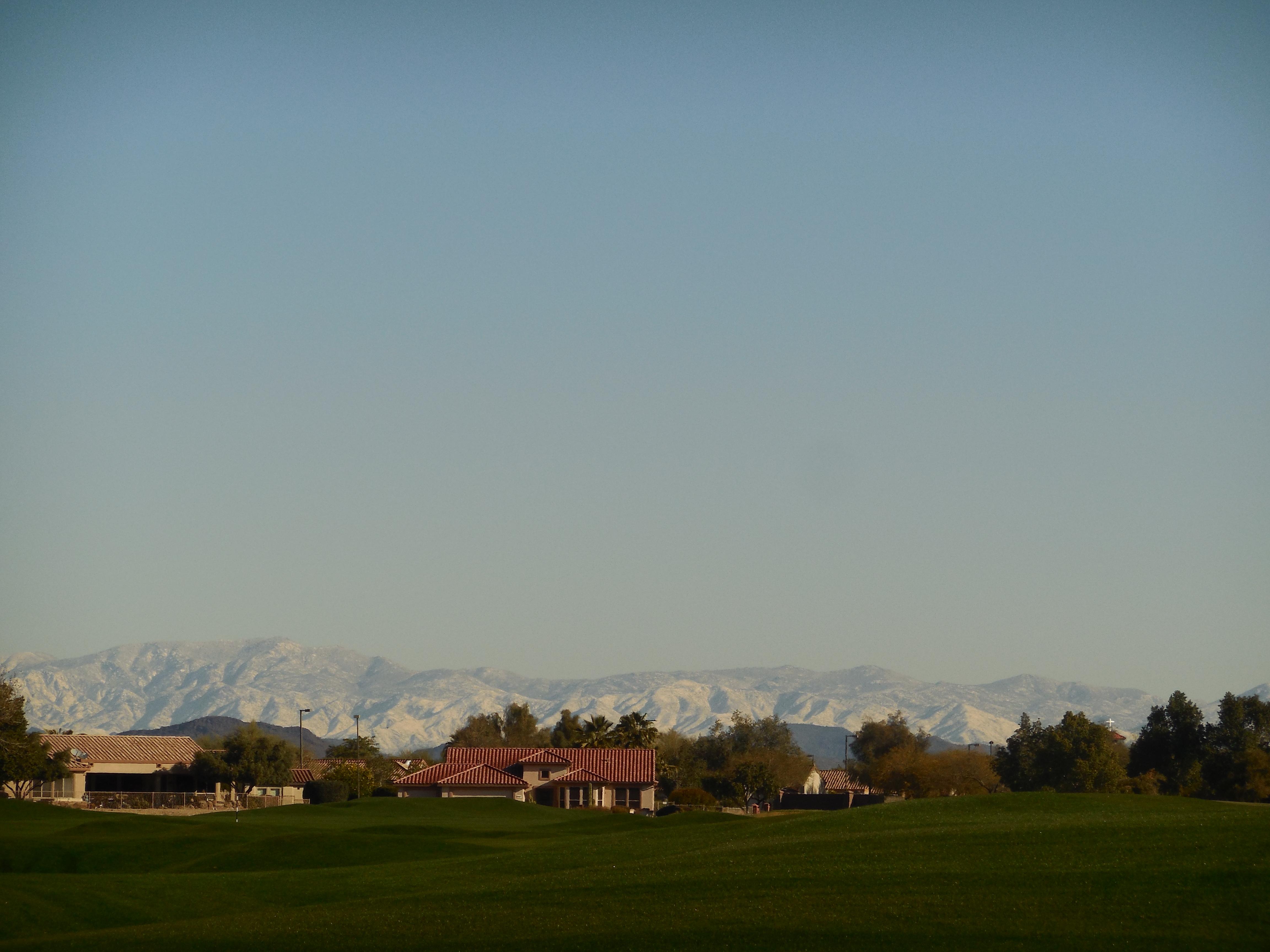 Surprise AZ views of snow covered mountain