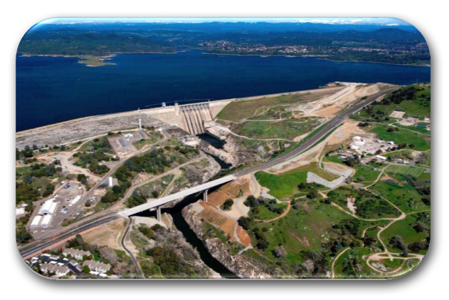The Folsom Lake Dam