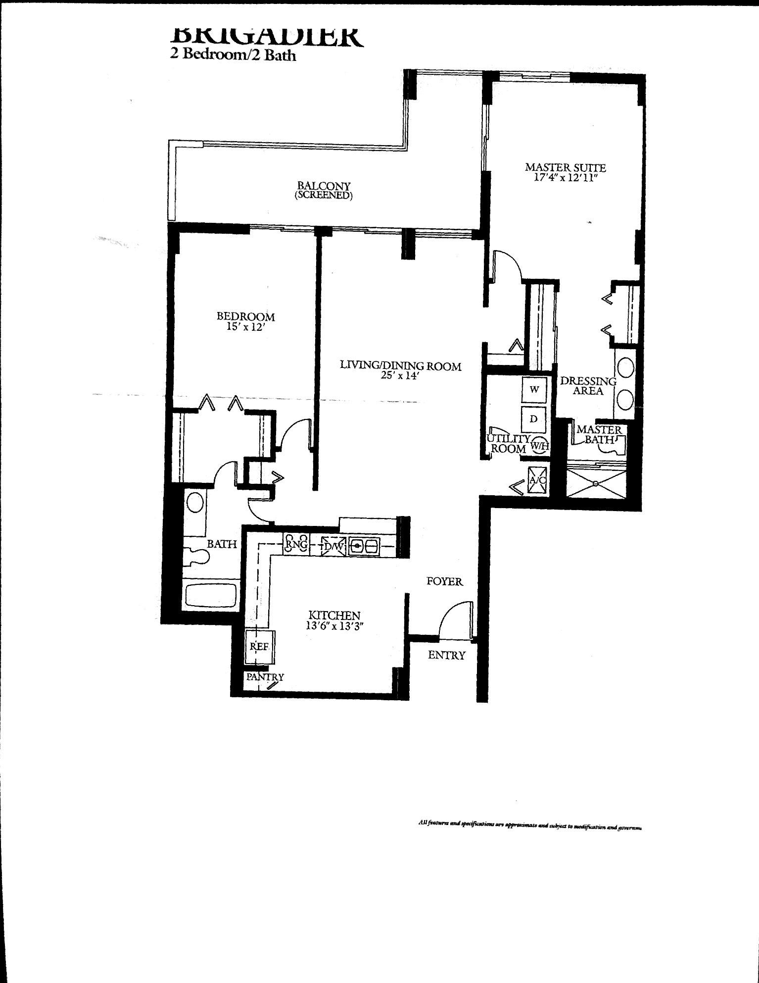 Coronado's Brigadier Floor Plan