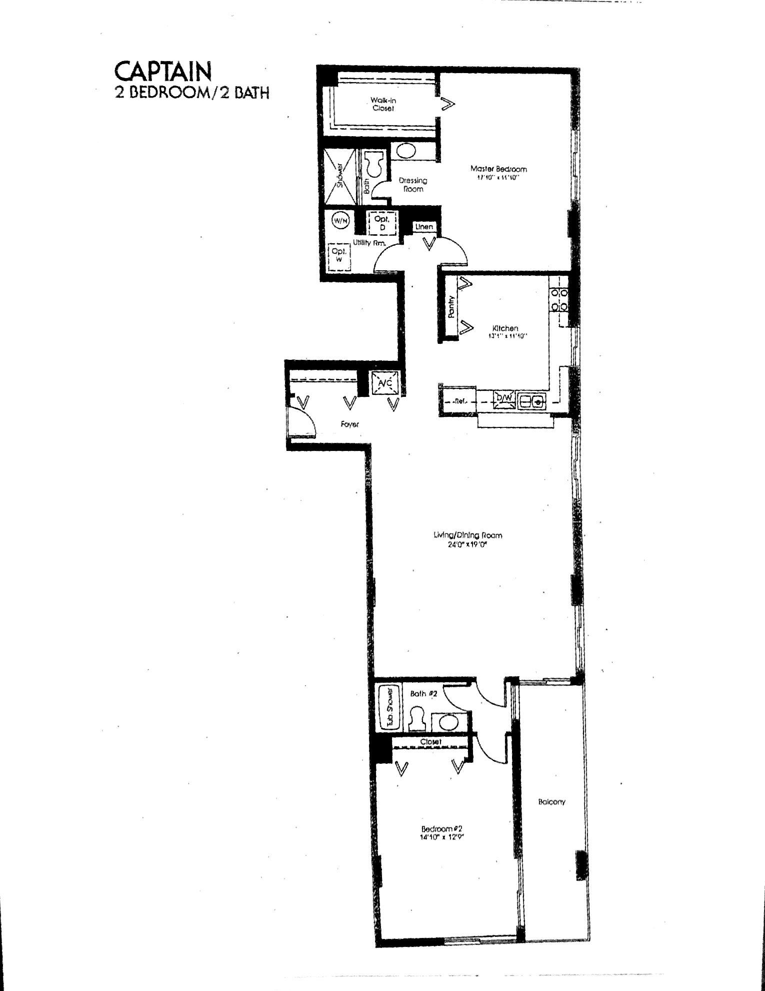 Coronado's Captain Floor Plan