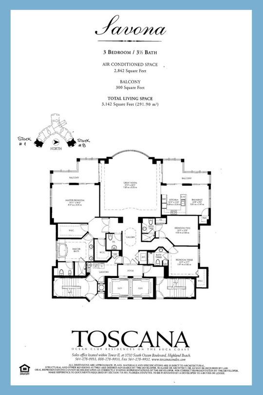 Toscana Floor Plan: Savona