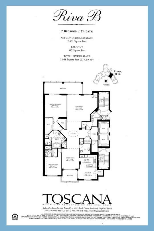Toscana Floor Plan: Riva B