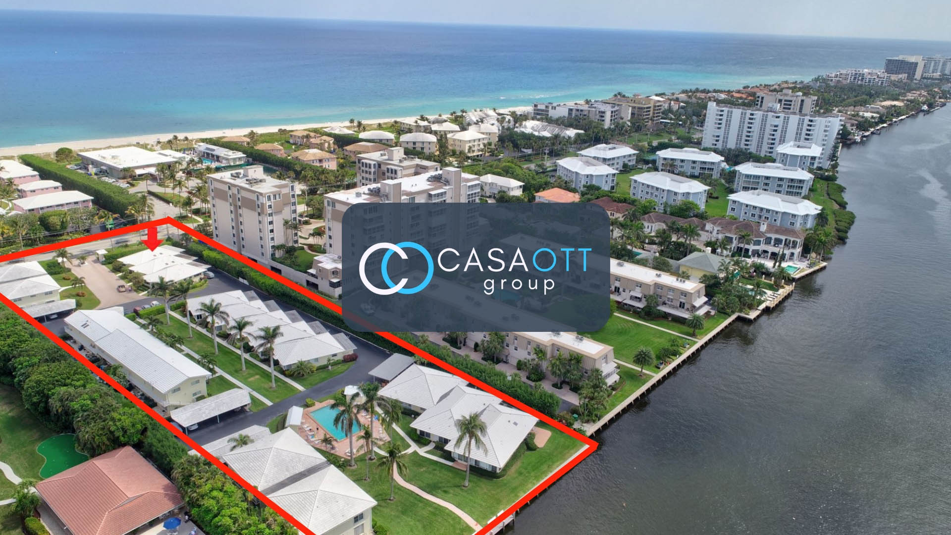Outrigger in Delray Aerial Photo