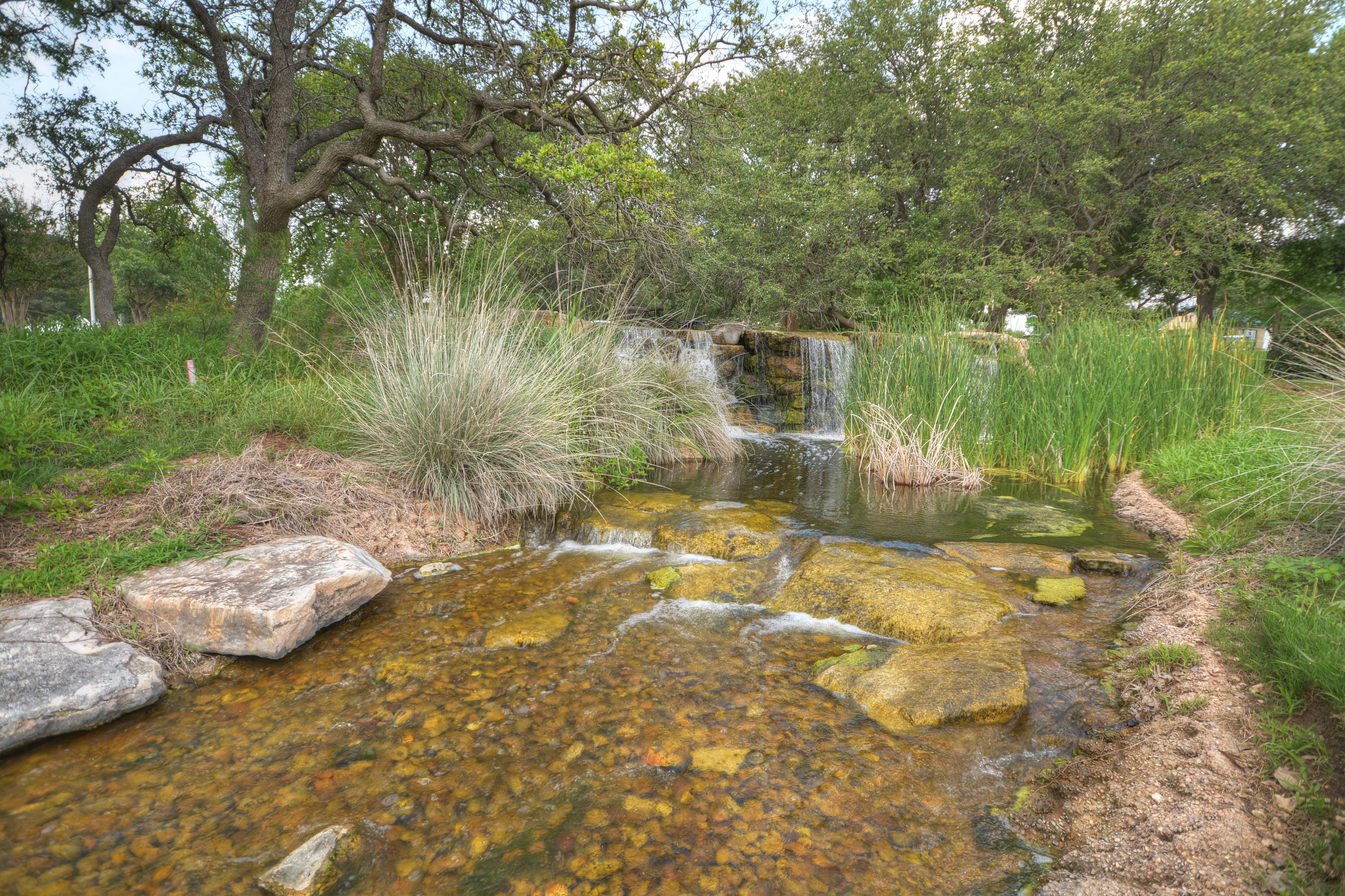 Water Feature on Golf Course