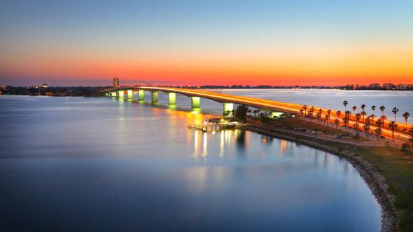 Sarasota FL Bridge to Lido Key and St Armands Key