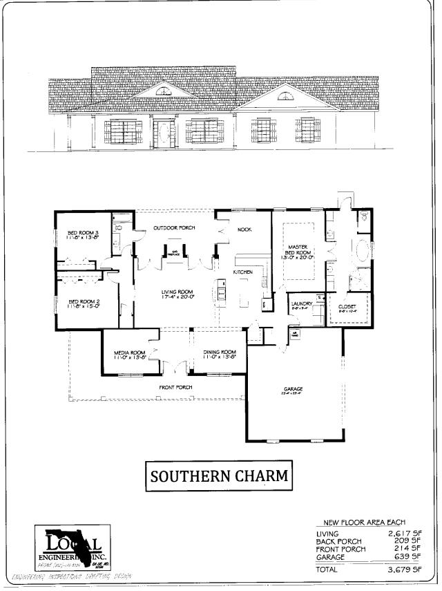 Southern Charm Home Plan