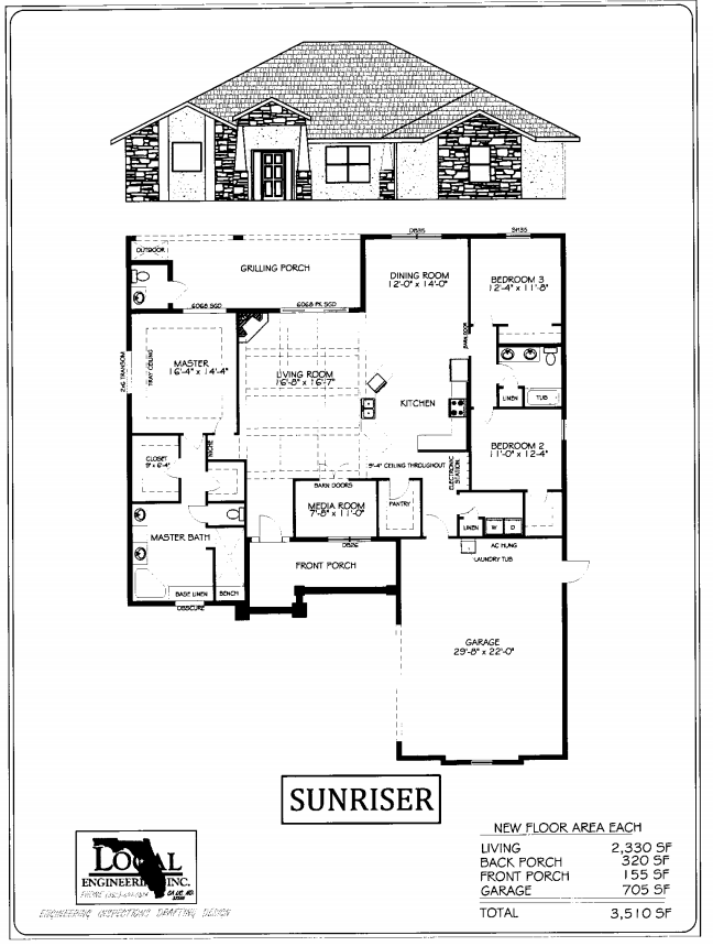 Sunriser Home Plan