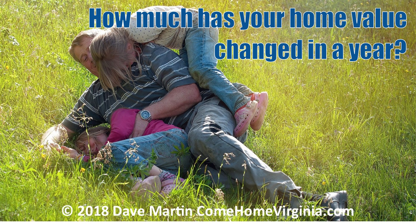 How much has your home value gone up in a year Virginia real estate home prices change realtor buyer agent listing agent exclusive
