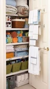 Organized Bathroom Closet
