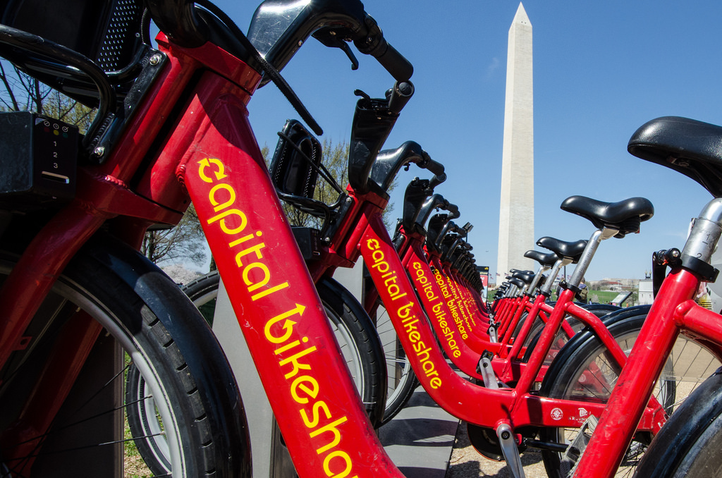 Use Captial Bike Share to reach Northern Virginia and Kite Festival