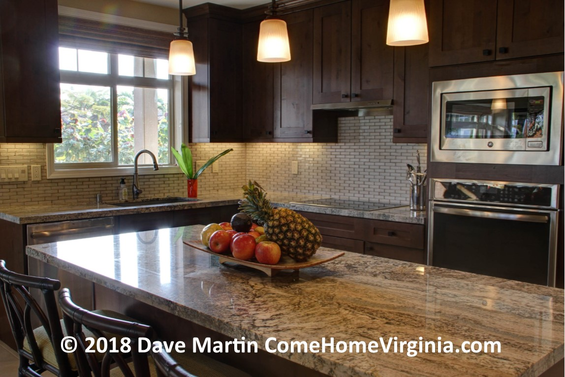 Kitchen Island with seating Open up your clogged kitchen Northern Virginia Realtor Dave Martin #LoveVA Market Expert Home Sold Fast
