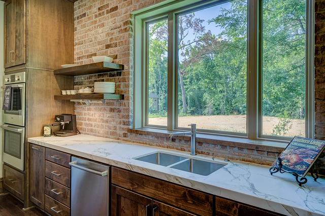 counter space around kitchen sink open up a cramped kitchen design Dave Martin Realtor Marketing specialist Northern Virginia #LoveVA