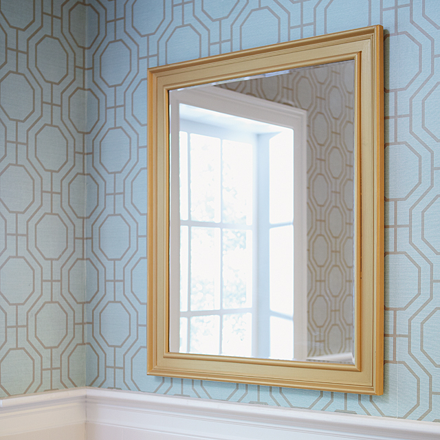 bathroom staging tip to get your home sold faster diy project to make a framed mirror using moulding Do It Yourself
