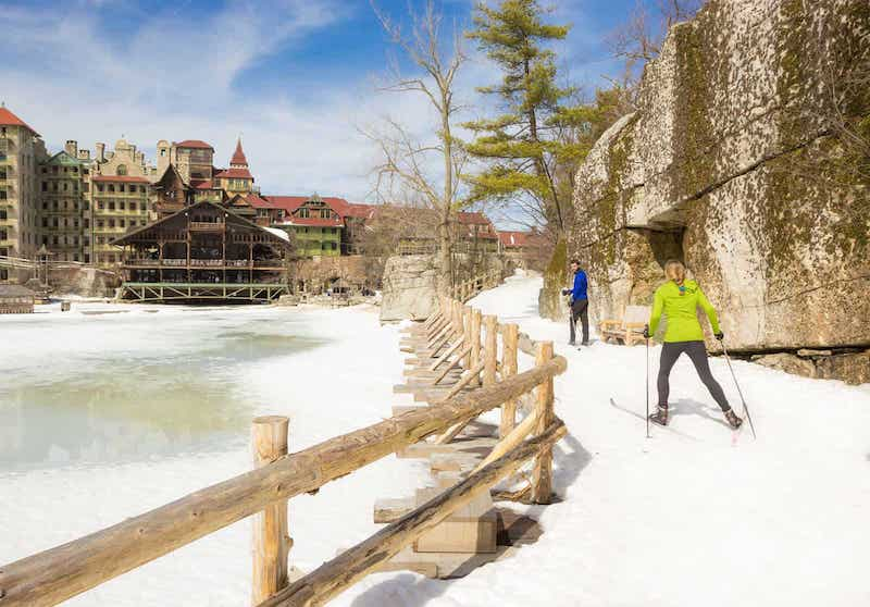 Cross Country Skiing at Lake Mohonk in New Paltz, NY