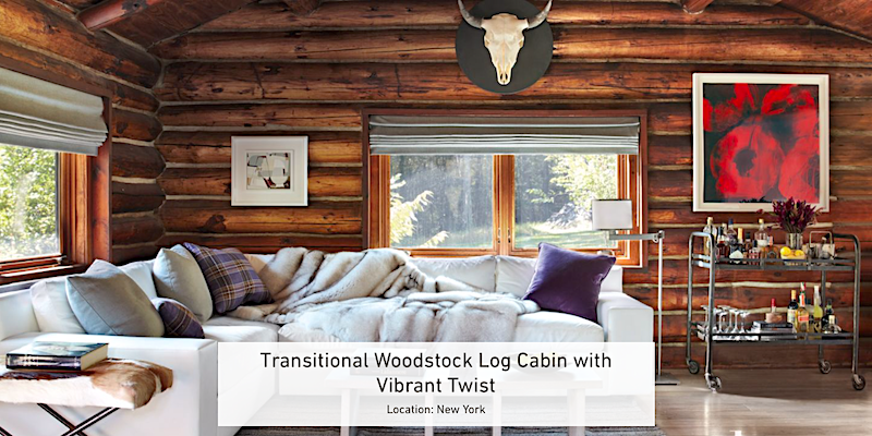 EXCLUSIVE LISTING: Luxury Modern Log Cabin in Woodstock, NY