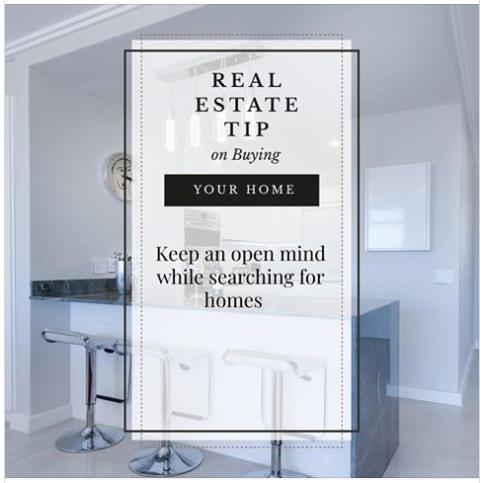 Tip Home Buyers Keep An Open Mind