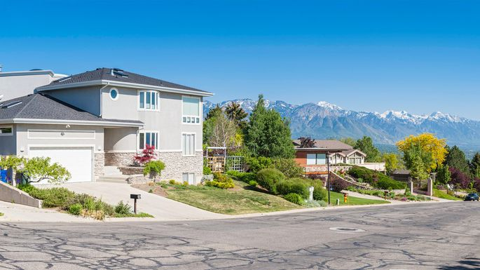 Residential neighborhood in Salt Lake City