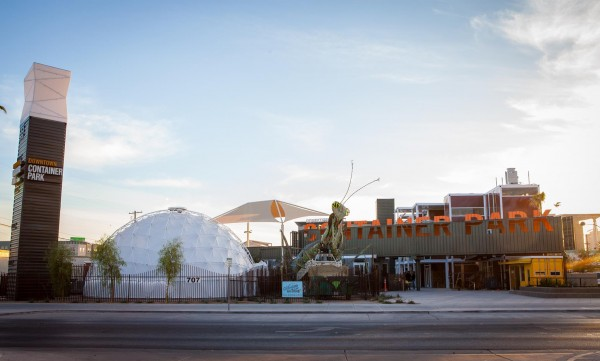 View of Container Park in downtown Las Vegas