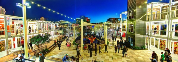 A look at Container Park in the evening