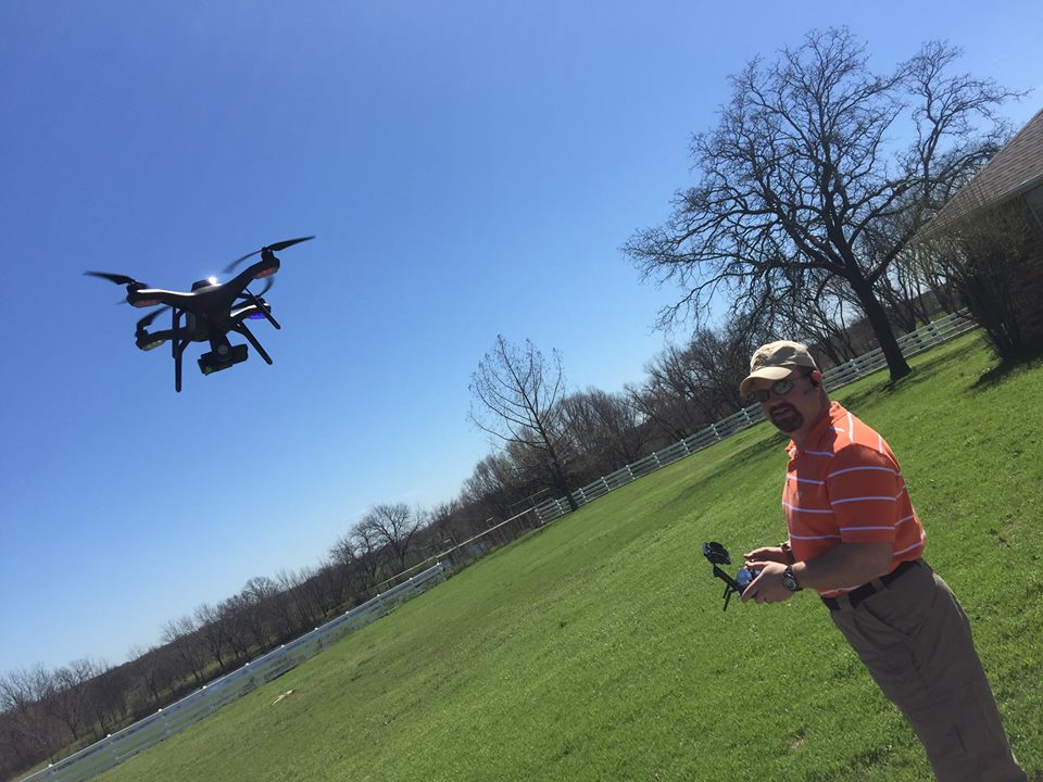 Kelly Wilson Southern OK Realty droning a property