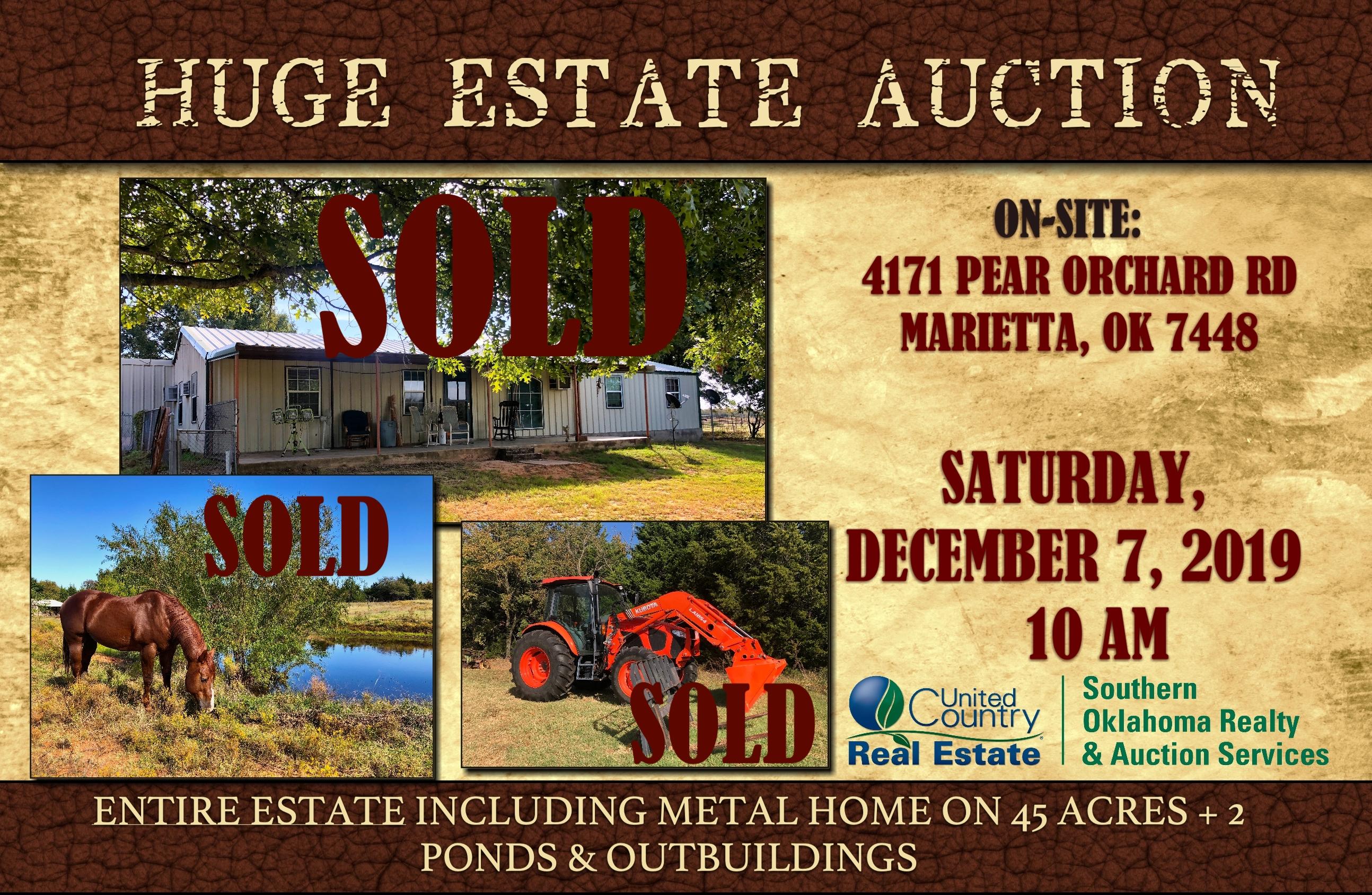 Huge Estate Auction In Marietta Ok December 7 2019
