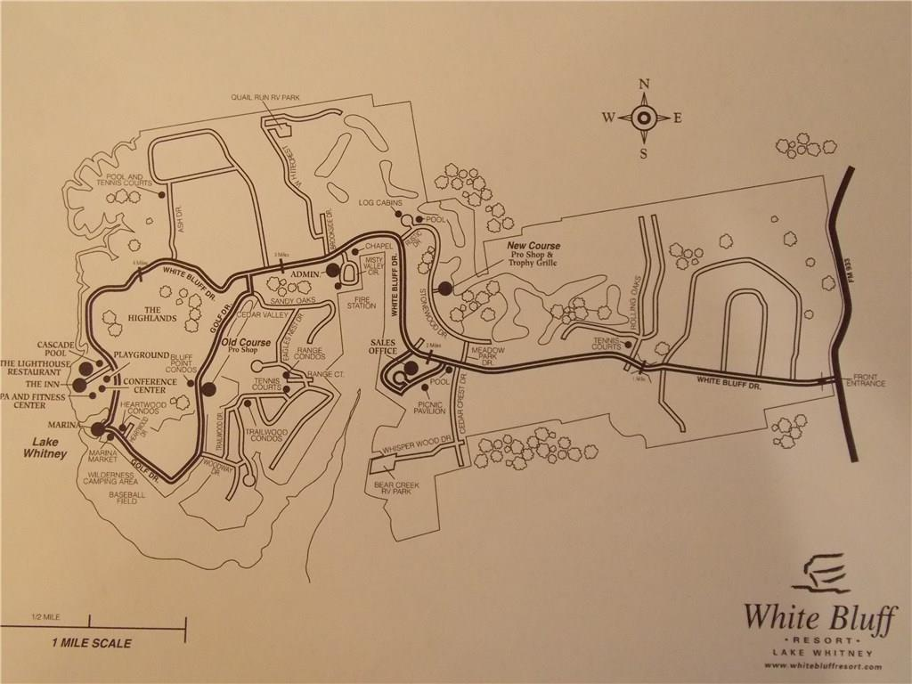 White Bluff Amenity Map