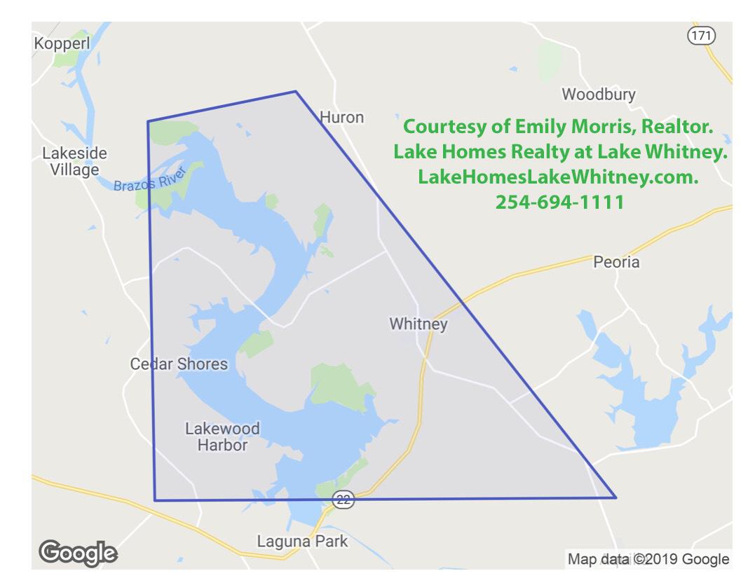 Lake Whitney Real Estate Market Map