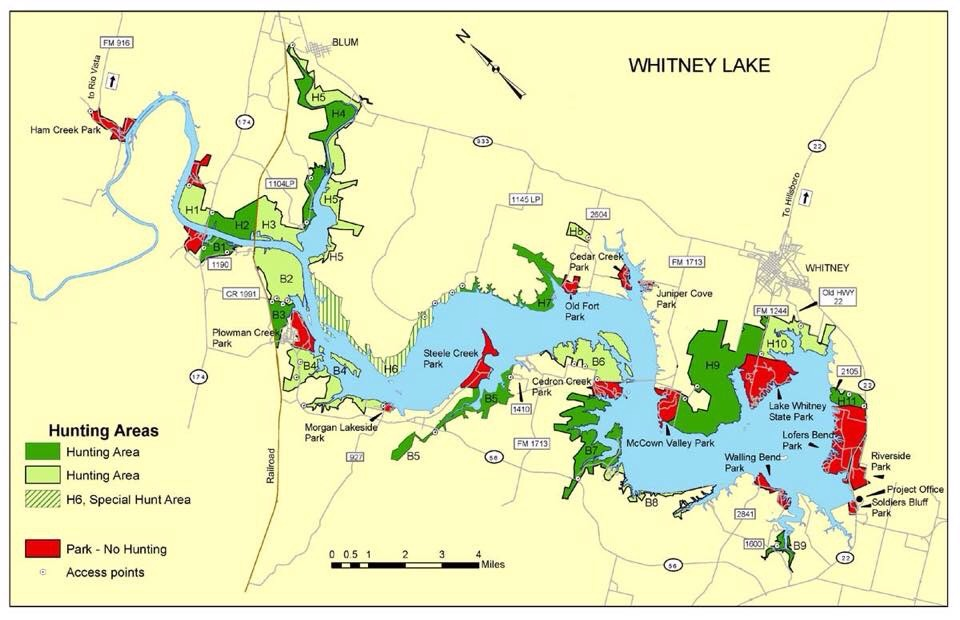 Lake Whitney -- 225 miles of shoreline over the Brazos River