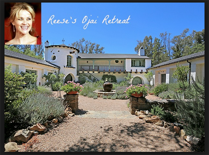 Reese's house in the Ojai Arbolada