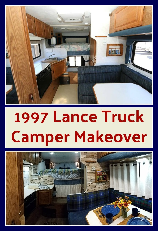 Before and after photos of 1997 Lance Camper makeover