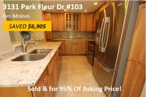 Condo/Townhouse Sold: 3131 Fleur Dr #103