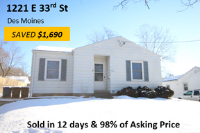 Single Family Home Sold: 1221 E 33rd St