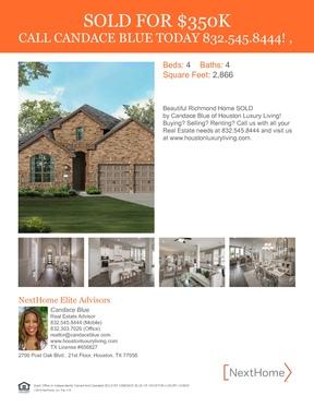 Single Family Home Sold: 21410 Cold Rain Drive