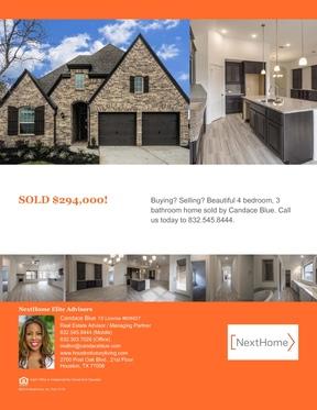 Single Family Home Sold: 6106 Grace Falls Drive