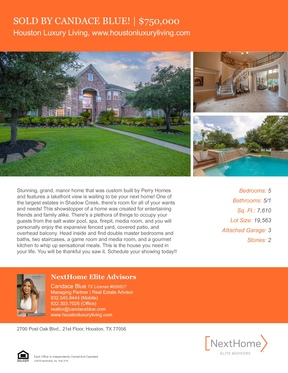 Single Family Home Sold: 11808 Crescent Bluff Dr.