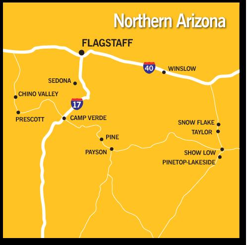Map Of North Arizona.Map Of Northern Arizona Cities Kameroperafestival