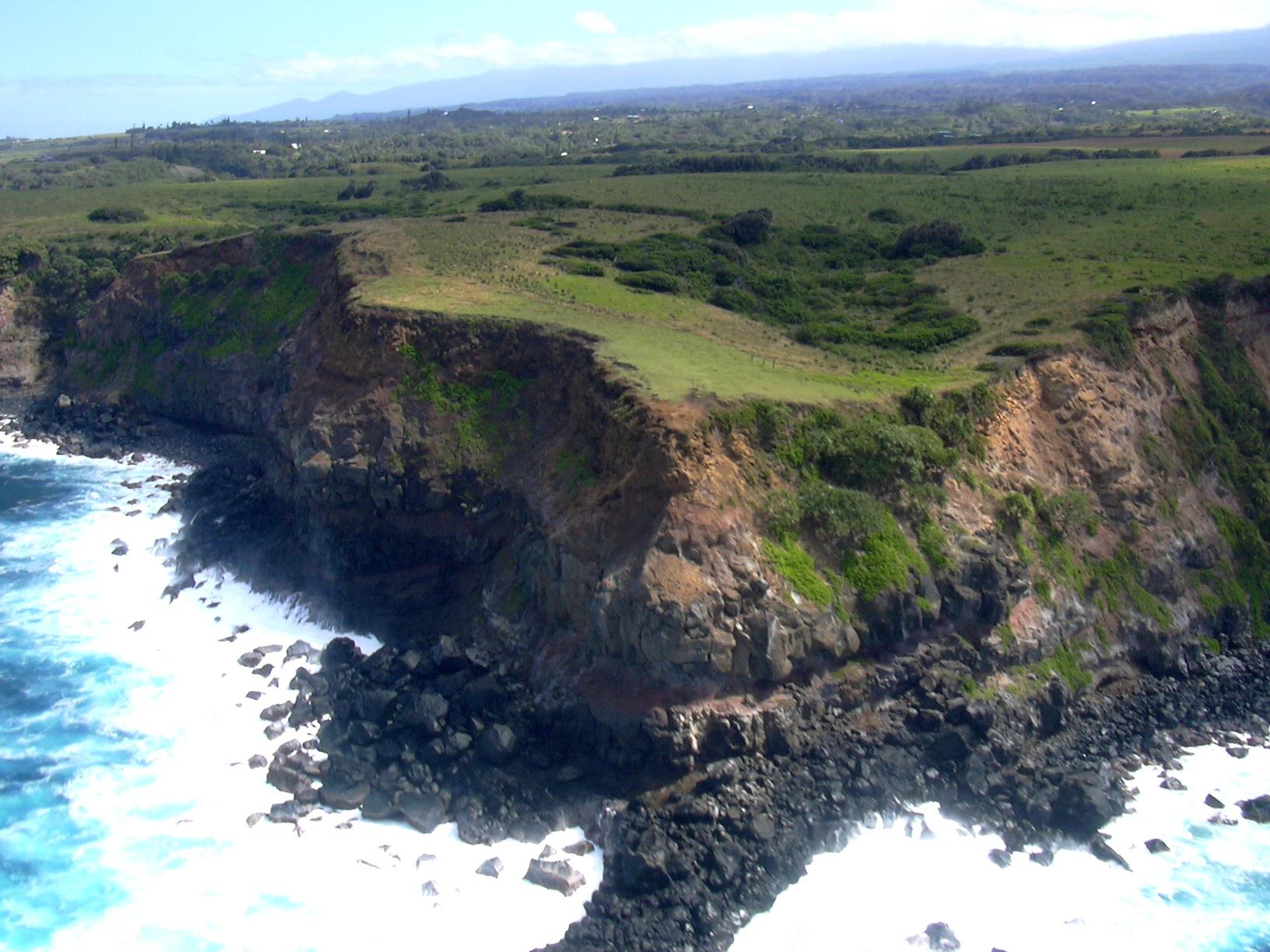 Haiku Aerial Cliffs courtesy of Forrest & Kim Starr